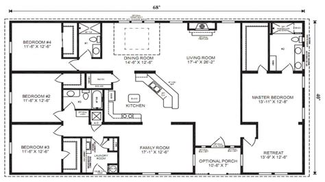 Floor Plans For Trailer Homes by Double Wide Mobile Homes Mobile Modular Home Floor Plans