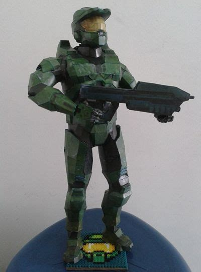 master chief papercraftsquare free papercraft