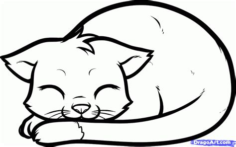 sleepy cat coloring page free sleeping cat coloring pages