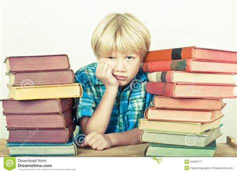 White Desk And Bookcase Homework Royalty Free Stock Photography Image 35363177