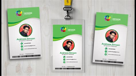 amazing id card design id card design in photo shop i photoshop tutorials youtube