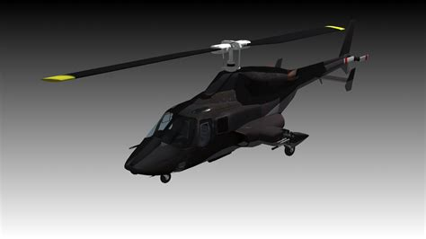 airwolf bell  helicopter  model animated rigged max fbx cd cgtradercom