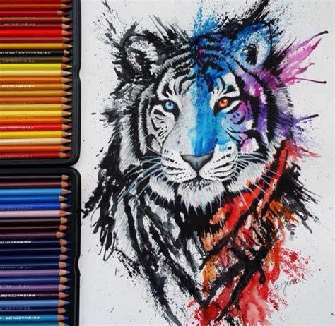 tattoo pen zwart fabulous watercolor pencil works by finland artist jonna