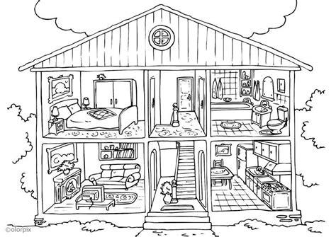 dibujo para colorear vivienda interior img 25995
