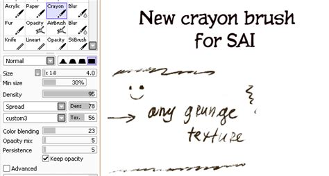 paint tool sai grunge paper new crayon brush for sai by clotus on deviantart