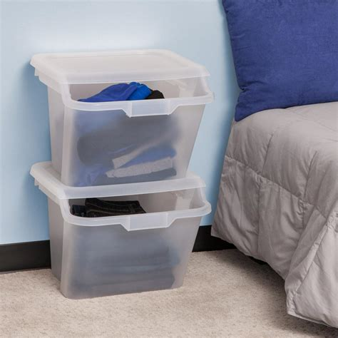 bedroom storage bins minimalist bedroom with iris recycling storage bin and 10