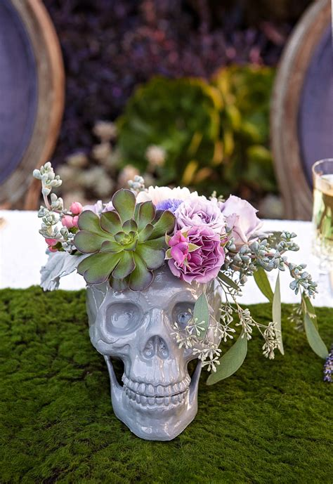 a style soiree with a beautiful twist on skull decorations bespoke wedding