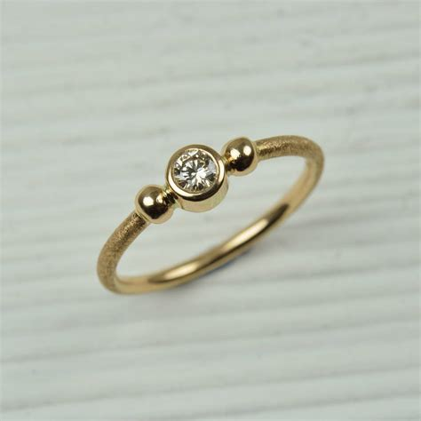 No Gold At Goldsmiths by 18ct Gold And Brown Ring By Mh Goldsmith