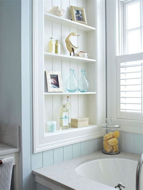 Narrow Shelving Unit Bathroom Built Ins Bath And Storage On