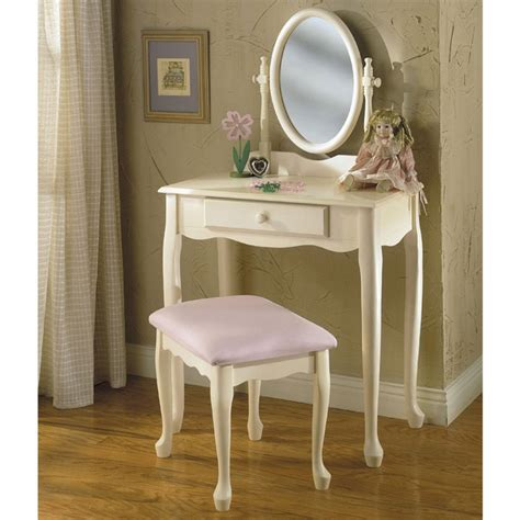 powell off white vanity mirror bench housewares