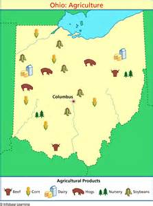 agriculture map ohio agriculture map