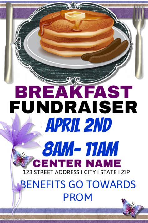 Pancake Breakfast Event Postermywall Pancake Fundraiser Flyer Template