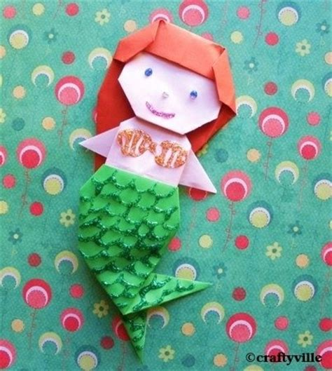 Origami Mermaid - origami mermaid diagrams this is easy origami mermaid for