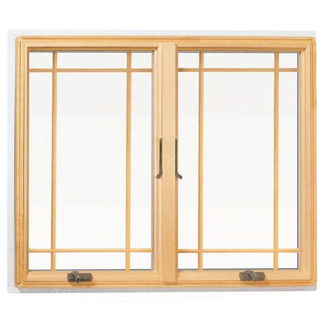 Andersen Awning Window by Andersen 48 In X 48 In 400 Series Casement Wood Window With White Exterior And Prairie Grilles