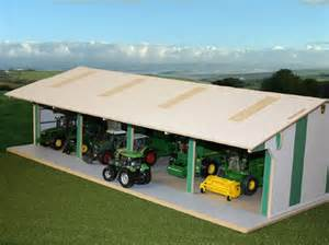 style tractor and machinery shed