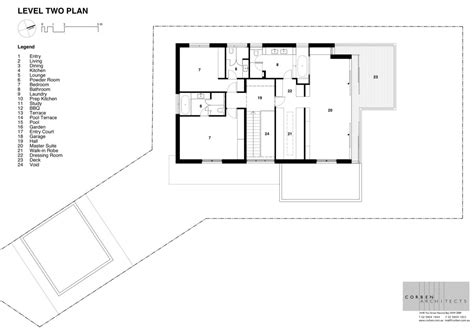 second floor plan of contemporary house design with