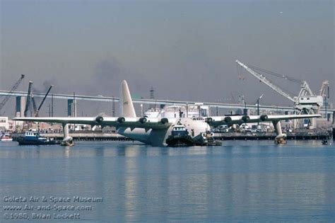 flying boat hughes aircraft howard hughes flying boat floating in los angeles harbor