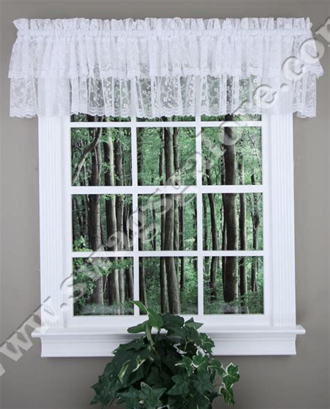 priscilla ruffled valance white lorraine kitchen