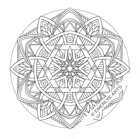 mandala coloring pages adults free cynthia emerlye vermont artist and life coach six sided
