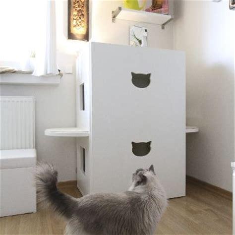 schrank katzenklo katzen katzenklos and toiletten on