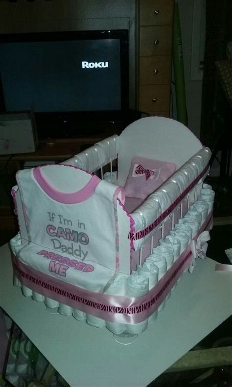 Nappy Baby Shower by Baby Shower Baby Crib Cakes