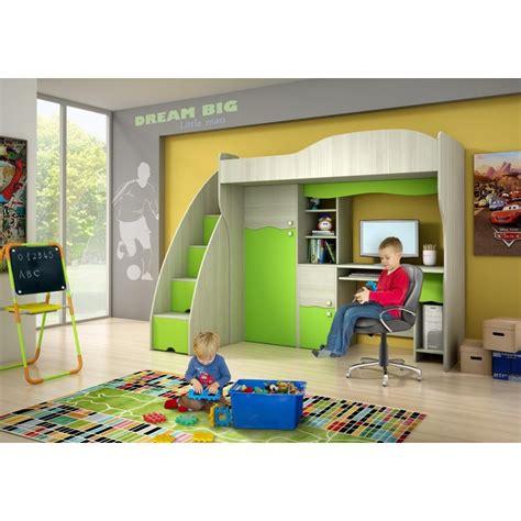 letti a soppalco con scrivania letto a soppalco con scrivania e armadio verde fiaba