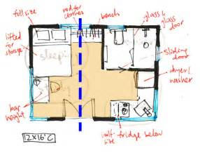 Tiny Movements 12x16 House Floor Plans 26x40