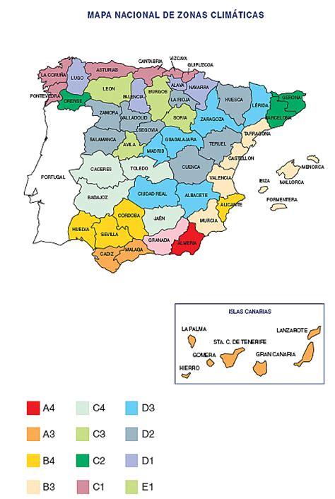 zonas climaticas de espana las espa 241 a zonas clim 225 ticas por provincia construpedia