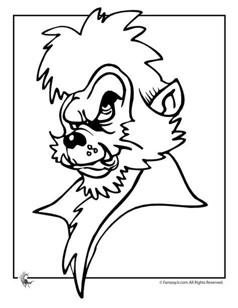 halloween wolf coloring pages werewolf head coloring page woo jr kids activities