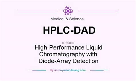 liquid chromatography diode array detector hplc high performance liquid chromatography with diode array detection in