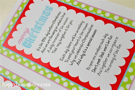 12 days of christmas gifts poems 8 best images of printable gift cards 12 birthday happy birthday card printable free
