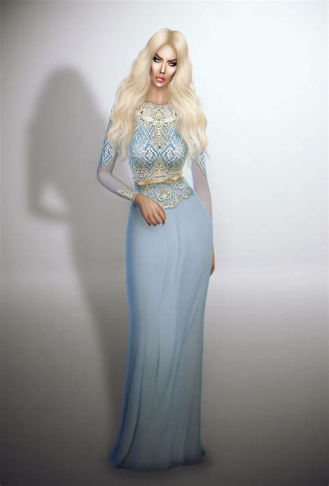 Sims 4 Royalty Dresses | lightblue royalty gown at fashion royalty sims 187 sims 4