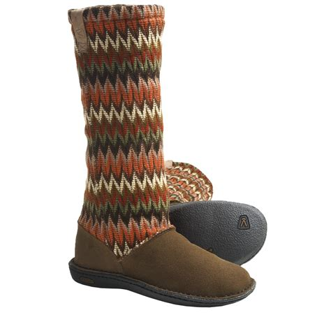 s water boots keen auburn boots suede sweater knit shaft for