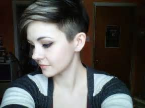 pixie cut on sides short shaved hairstyles for women