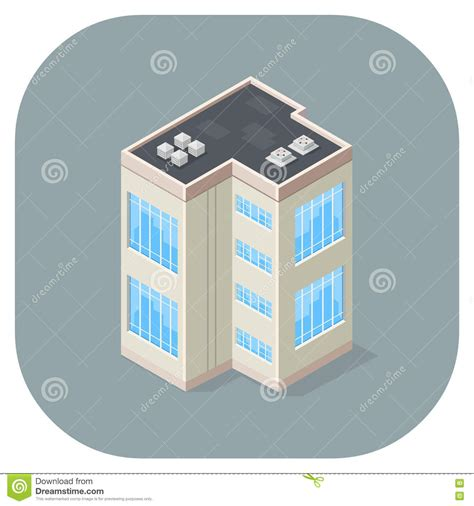 icon design office isometric vector illustration office building flat icon