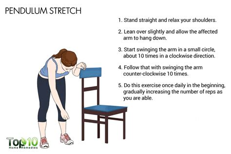 pendulum swings workout simple and effective exercises to fix a frozen shoulder