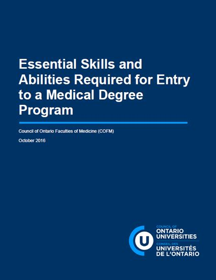 Essential Skills Application Blood Borne Viruses Policy Council Of Ontario Universities