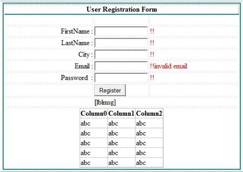 registration template for asp net create simple registration form in asp net with database c