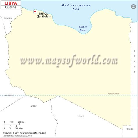 Libya Map Outline by Blank Map Of Libya Libya Outline Map