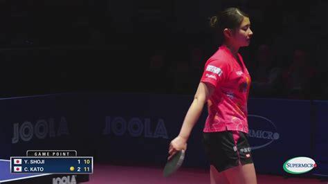 us open table tennis 2017 2017 us open table tennis chionships yuki shoji vs