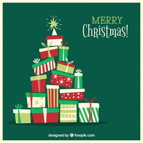 christmas tree   gift boxes vector