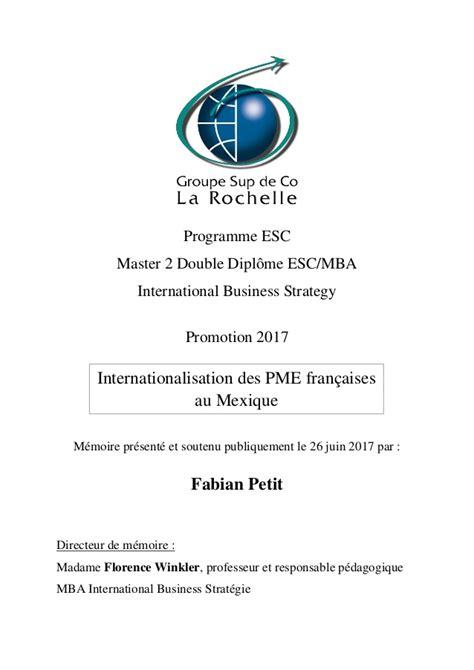 Keystone Strategy Mba Linktedin by Internationalisation Des Pme Fran 231 Aises Au Mexique