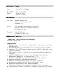 investment banking resume entry level sales banking