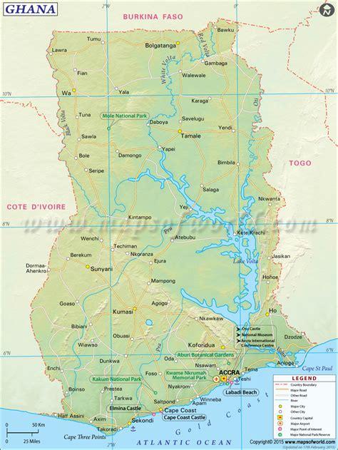 ghana map map  ghana