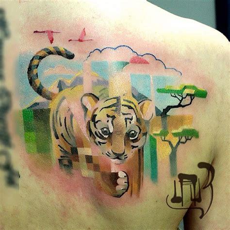 animal tattoo artist edmonton tatouage animaux et pixel de l artiste lesha lauz