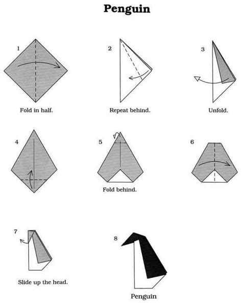 Origami Penguin Folding - origami penguin penguins your meme