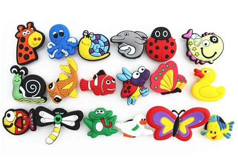 Pigeon Silicone L Isi 18pcs 18pcs animal bird fish shoe charms for jibbitz croc wristband bracelet ebay
