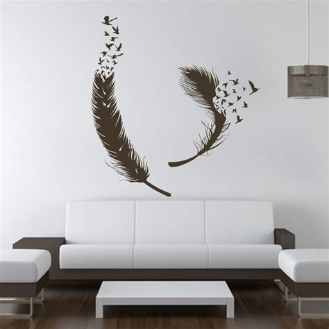 home decor decals birds of feather wall decals vinyl decal housewares art