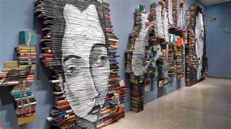 libro the art of creative old books used as canvas