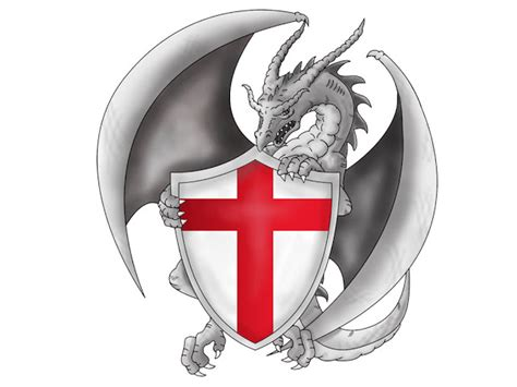 dragon with english flag tattoo tattoo design ideas